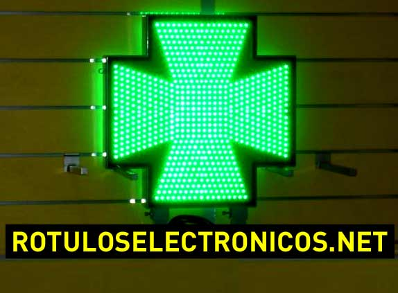 Cruces de farmacia de led Normativa Madrid