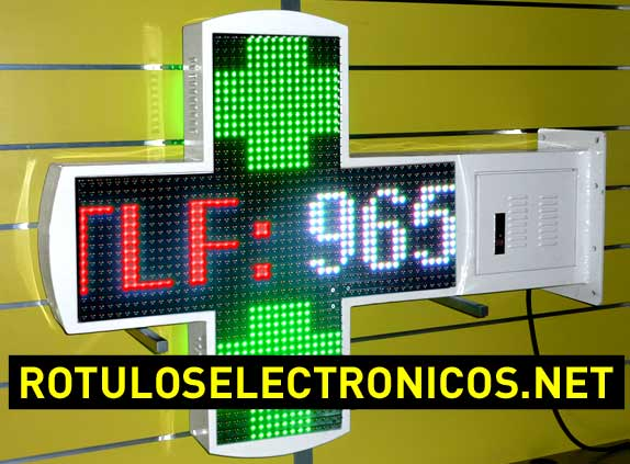 Cruces de leds de alta luminancia para farmacias