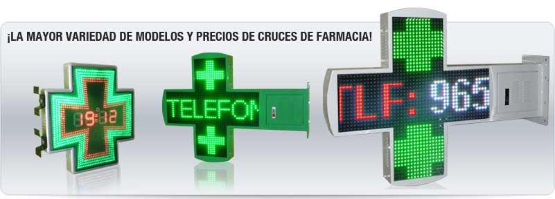 Cruces de farmacia, modelos y precios